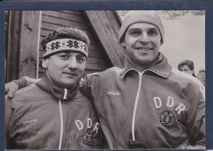 AK Bernhard Lehmann / Bogdan Musiol Silbermedaillengewinner bei den XIV Olympischen Winterspiele 1984 in Sarajevo