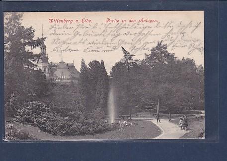 AK Wittenberg a. Elbe Partie in den Anlagen 1915 0