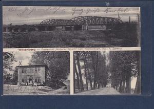 AK Wittenberg - Restaurant Goldener Frosch ( Am Brückenkopf) 3.Ansichten 1915