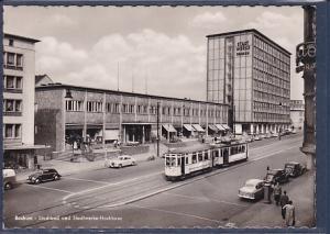 AK Bochum Stadtbad und Stadtwerke-Hochhaus 1958