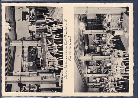 AK Kantine des Sozialwerkes der D.B. Frankfurt a.M. Hauptpersonenbahnhof 2.Ansichten 1955 0