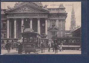 AK Bruxelles La Bourse ( Straßenbahn) 1915