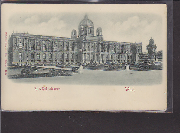 Reliefkarte Wien K.k.Hof-Museum 1900