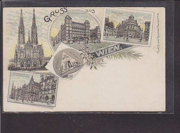 AK Litho Gruss aus Wien 5.Ansichten 1900