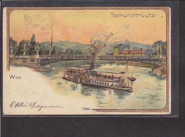 AK Wien Stephaniebrücke 1899