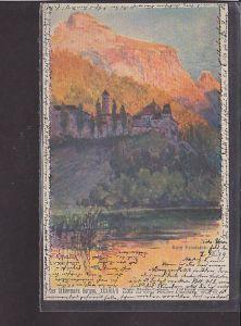 Künstler AK Der Steiermark Burgen Burg Friedstein 1899