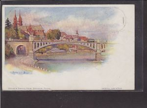AK Litho Gruss aus Basel 1898