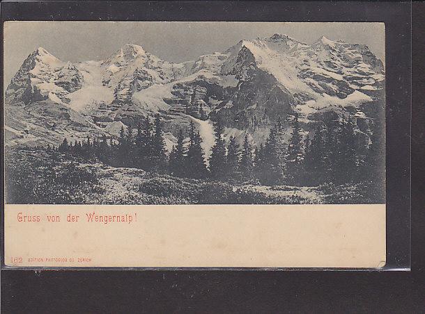 AK Gruss von der Wengernalp! 1920