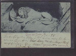 AK Gruss aus Luzern Löwendenkmal 1898