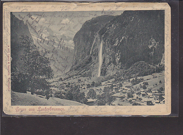 AK Gruss aus Lauterbrunnen 1902