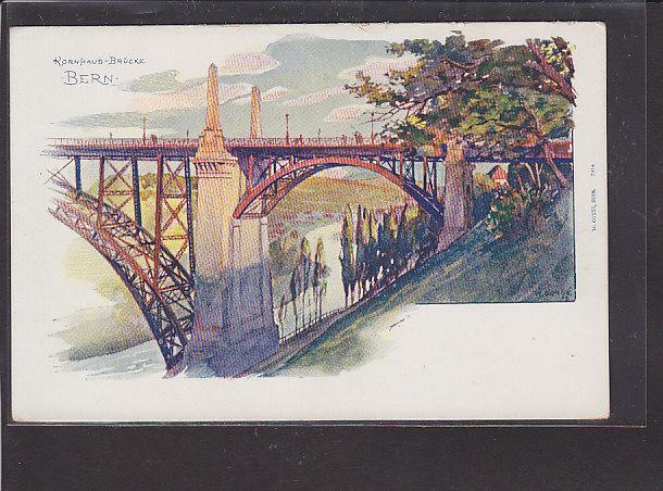 AK Bern Kornhaus-Brücke 1920