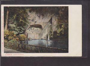 AK Luzern Löwendenkmal 1920