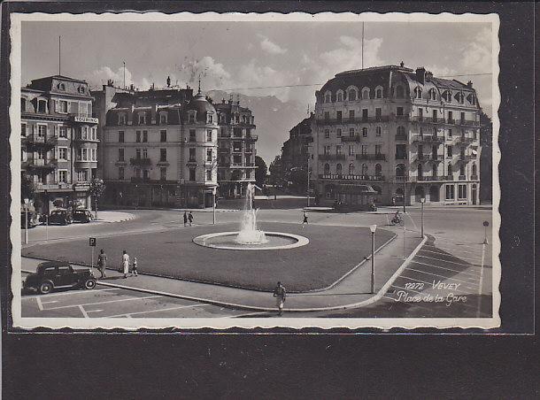 AK Vevey Place de la Gare 1939