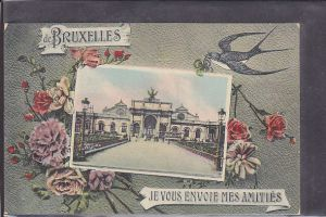 AK de Bruxelles Je Vous Envoie Mes Amities 1920