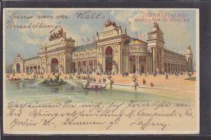 AK Litho Palace of Liberal Arts World´s Fair - St. Louis 1904