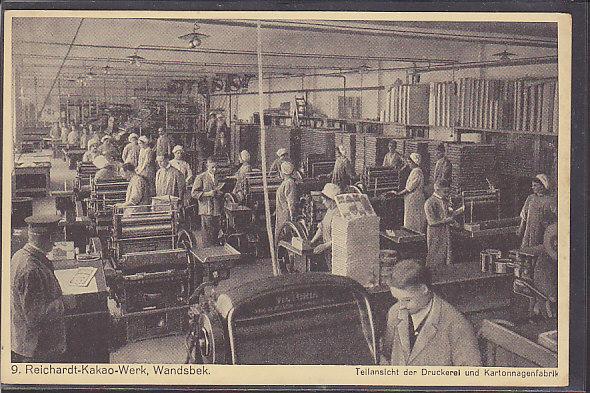 AK 9. Reichardt Kakao Werk, Wandsbek Teilansicht der Druckerei 1930