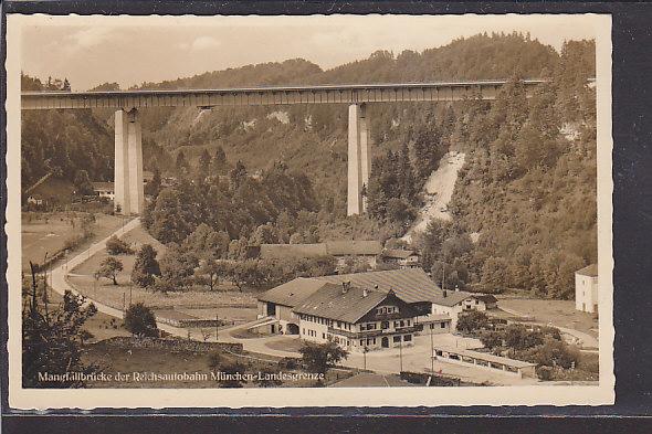 AK Mangfallbrücke der Reichsautobahn München Landesgrenze 1939