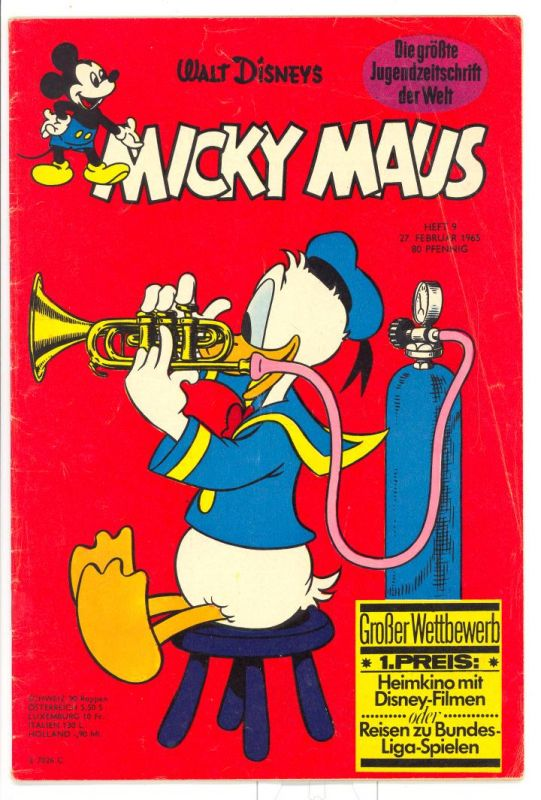 Micky Maus 1965 Nr.9 Z1-2