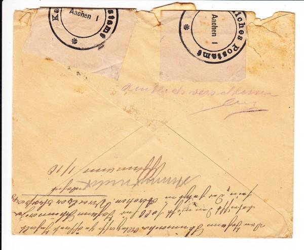 Brief Nach Belgien Kosten : Aachen brief mit rg nach raeren belgien dort von