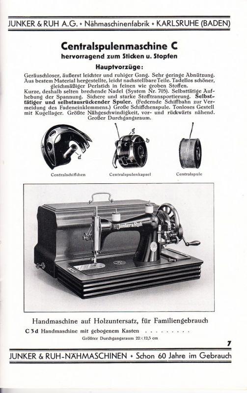 Junker + Ruh, Karlseruhe, nicht nur Küchenherde 2 tolle  -> Nähmaschine Junker Und Ruh