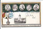 Augsburg 1906, 100 Jahre bei Bayern, gel. nach London, dies ist sicher aufwertend, die Erhaltung ist aber mäßig