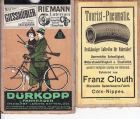 Osthessen, Vogelsberg-Schluchten-Fulda, Radfahrerkarte um 1900 auf Leinen, gefaltet, sch�nes Heimat-Teil