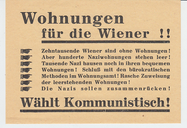 KPÖ-Flugblatt 1946, zeigt das Problem der Befreiung von außen u. daß die Bürokratie die gleiche bleib ...