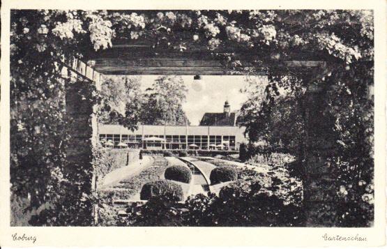 Coburg NS-Zeitliche Gartenschau, gel. als Drucksache, diese Michel 12 EUR, beidseits guter Beleg