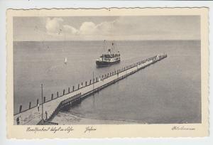 Wyk/Föhr, Hafen-AK schöner Werbestempel, So-Porto korrekt in die CSR (10 Pf)