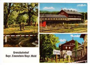 Bahnhof Bayrisch Eisenstein, einziger Grenzbahnhof Europas, Plattling-Eisenstein, Zug 02958, 17.8.69, 20 Pf. ins Ausland. Grußporto 5 Worte. Detailreicher Beleg