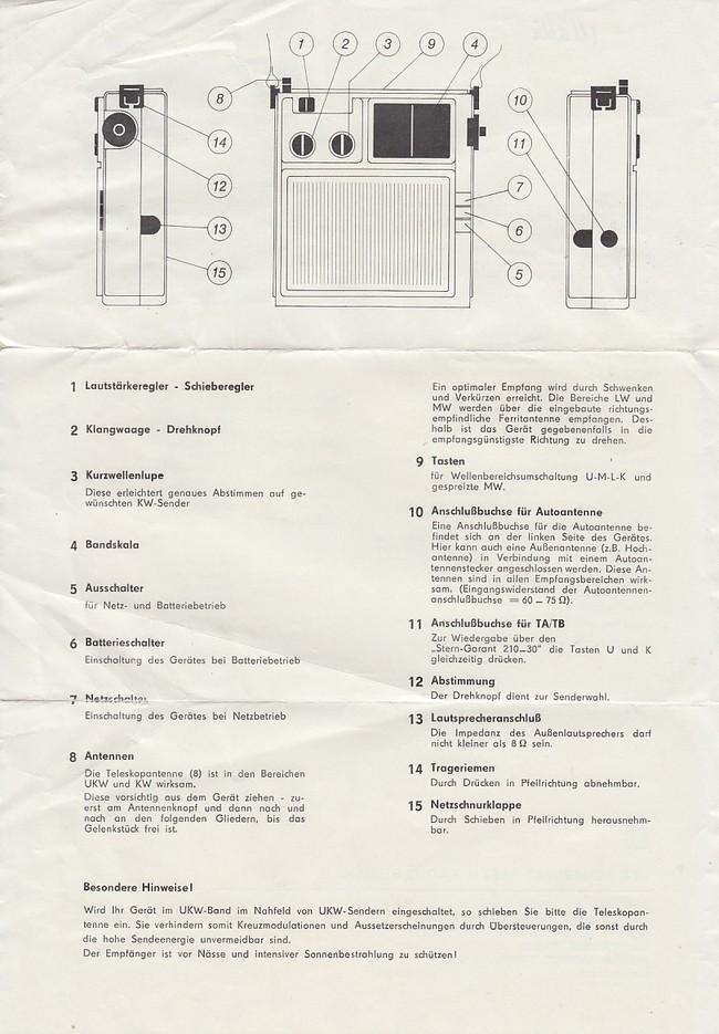 R.F.T. Stern. Gersamt 4 Wellen-Super, U, K, M, L. Garantie ...