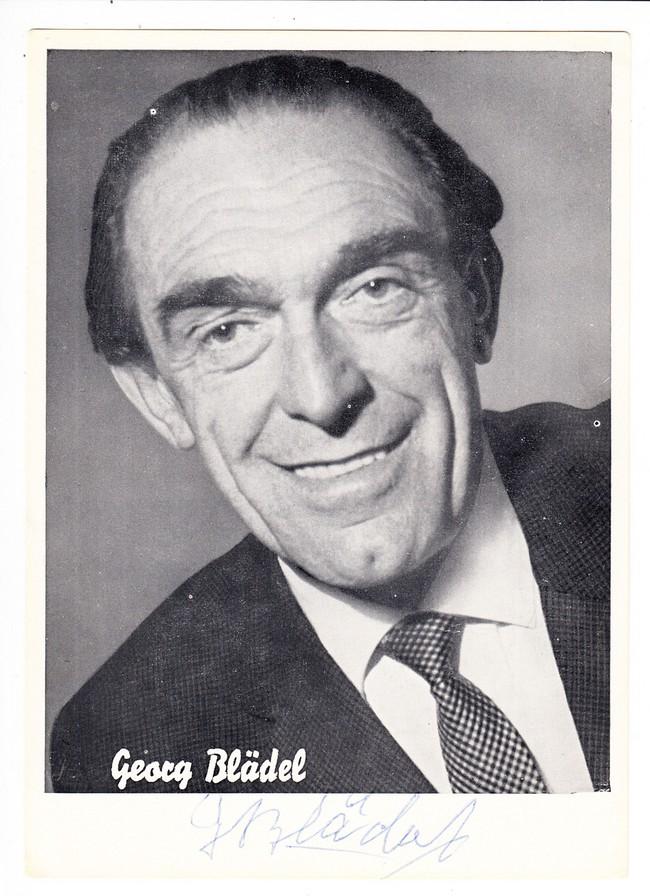 Volksschauspieler Georg Blädel (später u.a. kgl. bayr. Amtsgericht) O-U ca. 1955