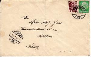 Guter Ostmark-Beleg. Auslandsbrief 25 Pf, 30 gr + 5 Pf. 1:1,5 Porto: Exakt! 1 x gefaltet, sonst i.O.