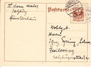 Theodor Kern, namhafter österreichischer Maler, mit Wikipedia-Seite, 1938 emigriert, 1900-1968, gest. in England. Guter, rarer Autograph