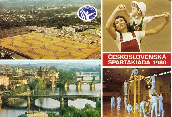 """""""Ostblock-Karte"""", Prag 1980 Spartakiade, SST, jedoch mit Rhön-Rad!!! Diese Sportart hyperselten auf AK, muß auch ein Nicht-Käufer zugestehen!"""
