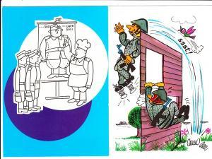 4 DDR-NVA-Humor-AK VEB Militärverlag der DDR