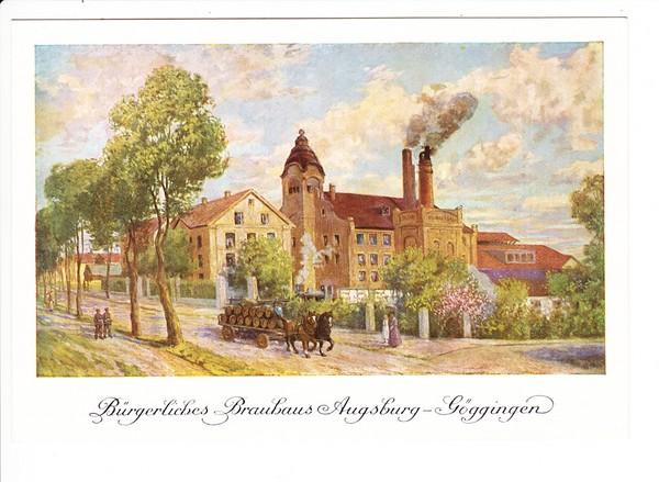 Augsburg, Brauerei Göggingen, Vorkriegs AK