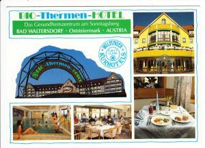 Bad Waltersdorf, Bio-Thermen-Ort, AK 1991, O-U kurze Widmung Marika Rökk