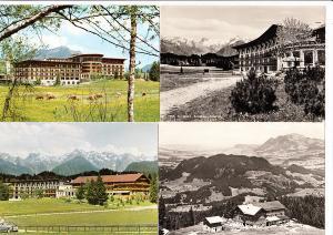 Sonthofen, wollte sein SF nicht wieder! 4 Hotel-Karten Vor-/Nachkrieg