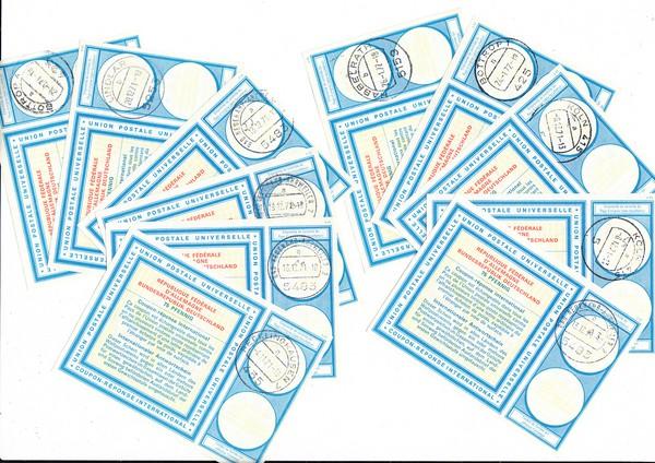 Ganzsachen NRW 10 iAS 7 Michel 65,-, alle gestempelt ei Postämtern in NRW. Gar nicht häufig, aber auch nur von Kennern gesucht.