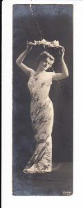 Mini-Karte, 4 x 13,5 cm gel., kleiner Bug, in Bayern total selten, eher in Italien (z.B. ganze Serien Venedig)