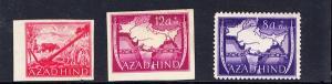 Marken für das nationale Indien, 1943, Rand-Dasein im Michel, dort je 5 ?, aber man sieht sie selten