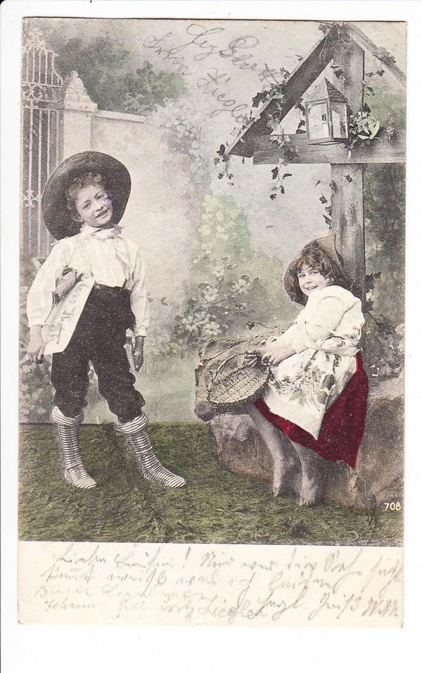 AK, Bildseitig bei uns maximal 2 ?, München - Darmstadt 2 Pf 1903, jederzeit zu wenig, weiter nach Frankfurt dann 10 Pf Nachporto, Erh. i.O. 0