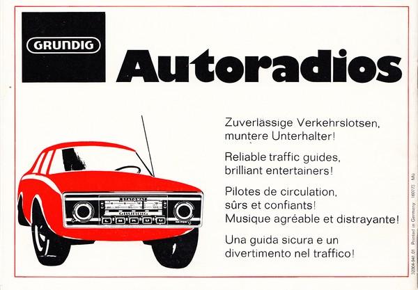 Grundig, Bedienungsanleitung für frühen Casettenrecorder, ca. 1969 ...