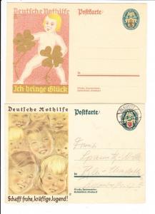 WHW, 3 x Nothilfe 1928/29, Michel über 10 Euro