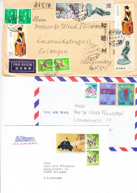 Briefe Nach Japan Kosten : Japan briefe von dort deutscher wissenschaftler nach