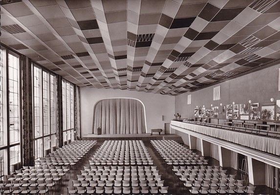 haus der begegnung kirchliche architektur der 50er jahre nr 30590 oldthing ansichtskarten. Black Bedroom Furniture Sets. Home Design Ideas