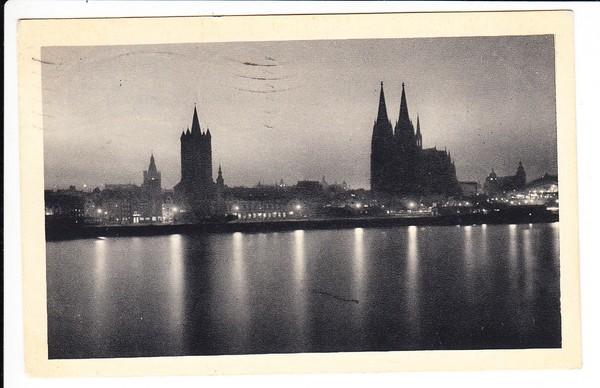 Pressa, Köln Sonderpostamt 1928, Bedarfskarte nach Ungarn, Eckrandstück!