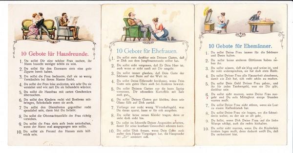 5er Serie für Jünglinge, Jungfrauen, Ehemänner, Ehefrauen (hier Schürfstellen) und natürlich Hausfreunde