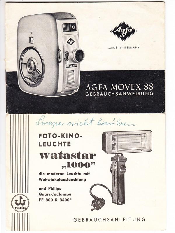 2 Bedienungsanleitungen für AGFA und WAFA-Photo-Geräte (AGFA 24 Seiten)